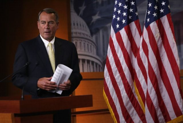Speaker John Boehner says the House will sue President Barack Obama's administration over what he called a pattern of ignoring parts of federal laws the president doesn't like.