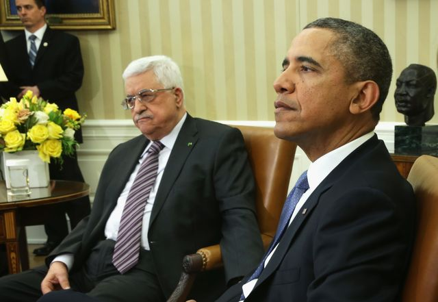 Keeping Mahmoud Abbas at the negotiating table should be a priority for the U.S. Photographer: Alex Wong/Getty Images