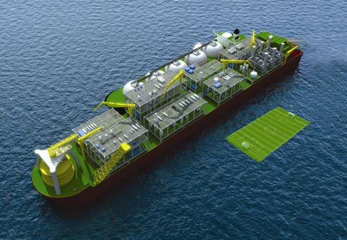 Shell floating LNG plant