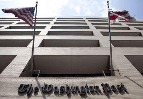 The Washington Post Co. headquarters in Washington. Photographer: Andrew Harrer/Bloomberg