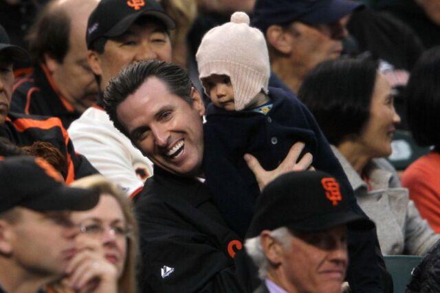 Baseball helped get Gavin Newsom into college.
