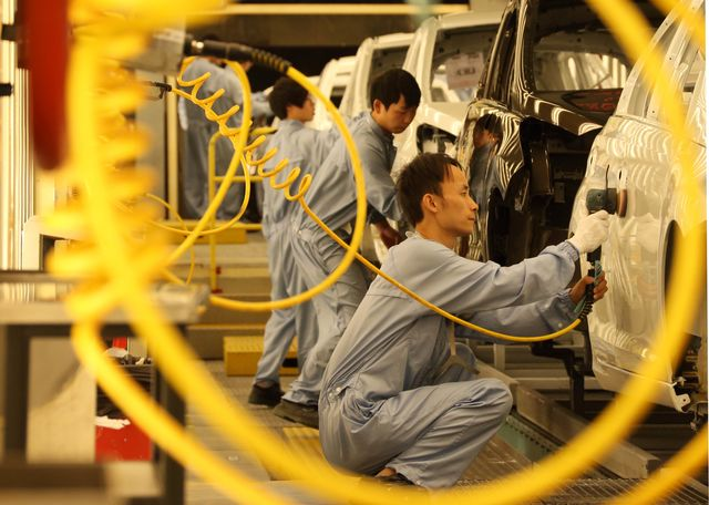 China is losing manufacturing jobs like these.Photographer: Tomohiro Ohsumi/Bloomberg