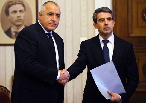 Bulgaria's Premier Boyko Borissov and President Rosen Plevneliev