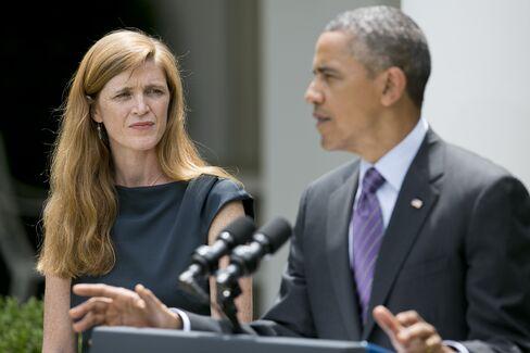 Ambassador to the UN Samantha Power & President Barack Obama
