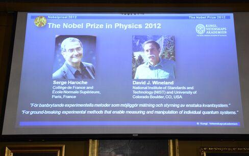 Haroche, Wineland Win 2012 Nobel Physics Prize