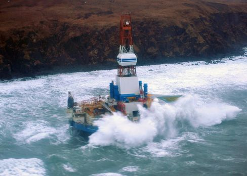 Shell, Coast Guard Seek to Contain Grounded Alaska Drilling Rig