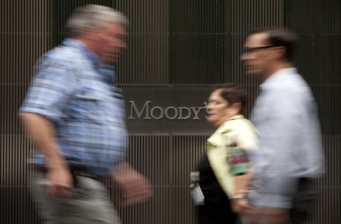 Moody's Investors Service Inc. headquarters in New York. Photographer: Scott Eells/Bloomberg
