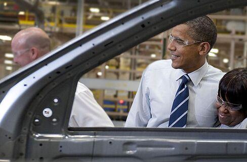 President Barack Obama Tours Chrysler Auto Plant