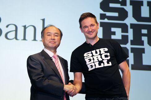 SoftBank CEO Masayoshi Son & Supercell CEO Ilkka Paananen
