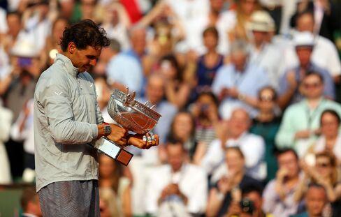 Tennis Player Rafael Nadal Wins