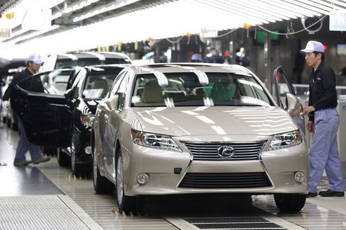 Toyota's Gain Paces U.S. to Best Sales Rate Since March '08