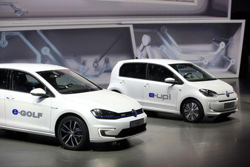 Volkswagen's e-Golf and e-Up! Electric Automobiles