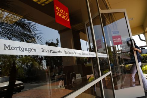A Customer Enters a Wells Fargo & Co. Branch in Hermosa Beach