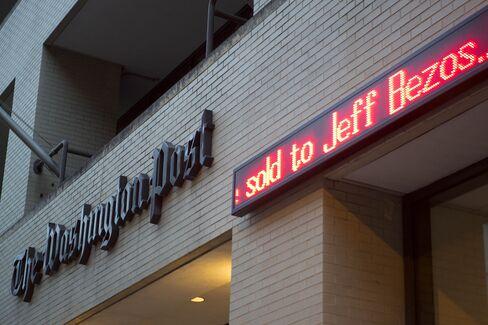 Amazon's Jeff Bezos to Buy Washington Post for $250 Million
