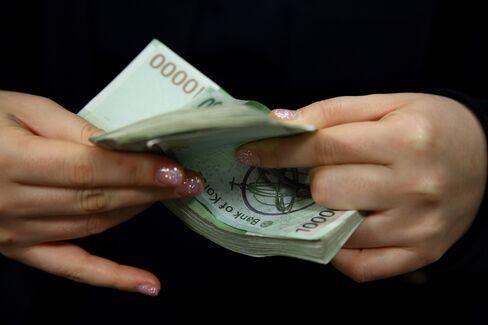 South Korean 10,000 won banknotes