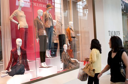 Shoppers Walk Past A Talbots Inc. Store