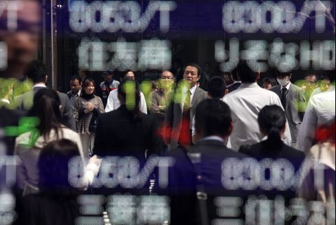 Japanese Stocks Rise as Greece Vote Eases Euro Breakup Concern