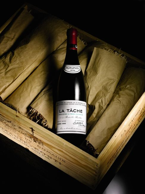 A Bottle of La Tache 1990 Wine