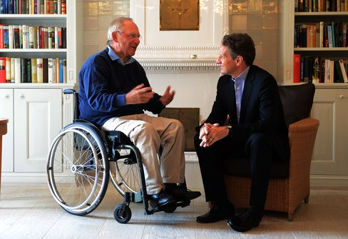 Geithner, Schaeuble Discuss Need for Cooperation on Growth