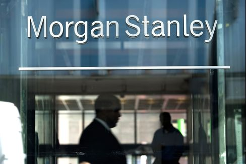 Morgan Stanley Leads Bank Shares Lower