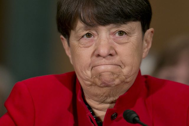 Mary Jo White may be unimpressed. Photographer: Andrew Harrer/Bloomberg