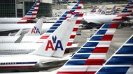 American Airlines passenger planes in Miami.