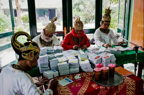 Election Officers in Traditional Costume
