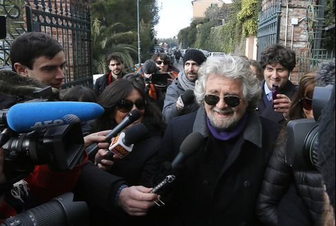 Five Star Movement Leader Beppe Grillo
