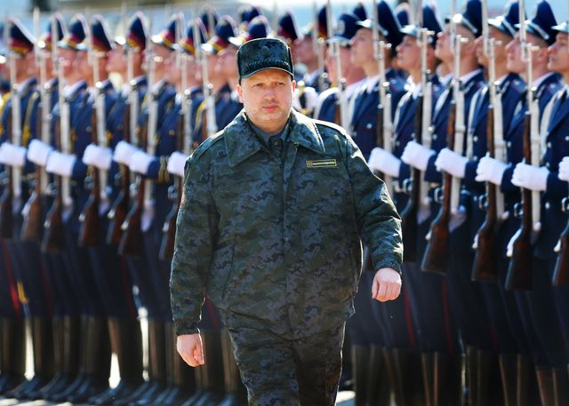 Is Oleksandr Turchynov all talk, no action? Photographer: Sergei Supinsky/AFP/Getty Images
