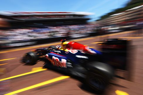 Vettel in Monte Carlo