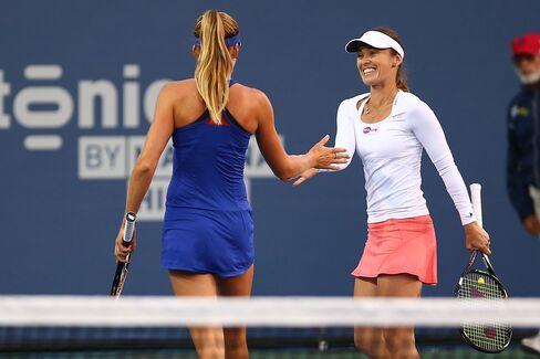 Tennis Players Daniela Hantuchova & Martina Hingis