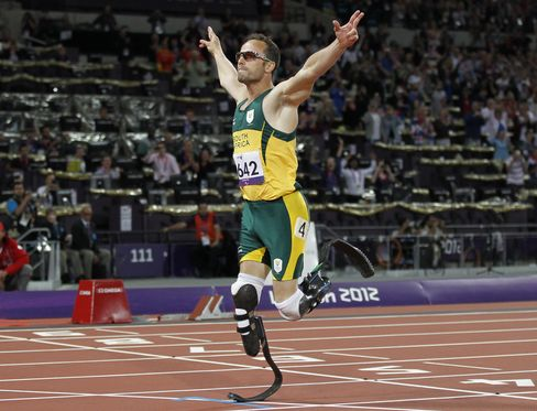 Olympian athlete Oscar Pistorius