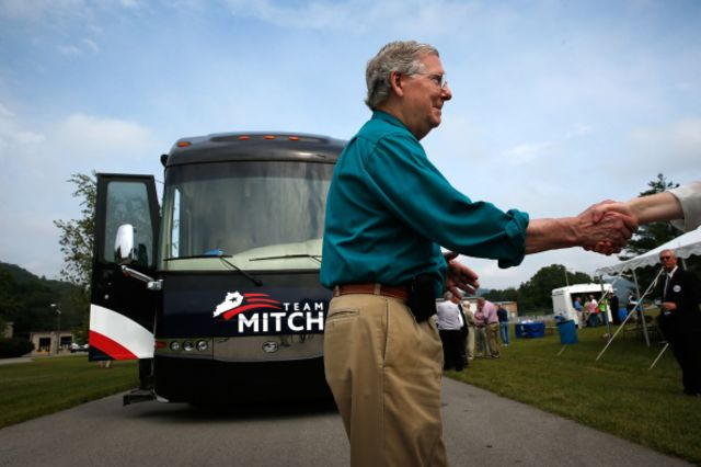 Senate Minority Leader Mitch McConnell probably won't know if his party has a majority until afterElection Day.