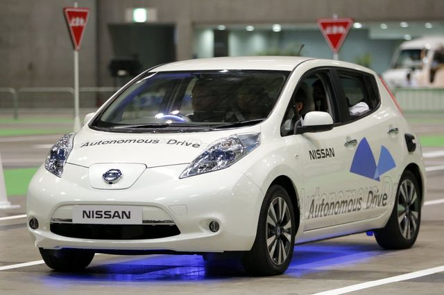 The driverless Leaf, not coming to a dealer near you anytime soon.