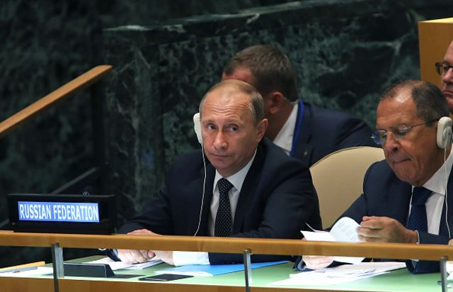 <p>Putin is doing the diplomacy thing. Also war.</p>