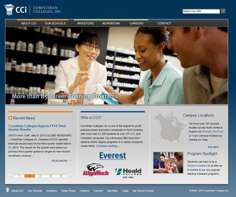 Corinthian Colleges Inc. Website