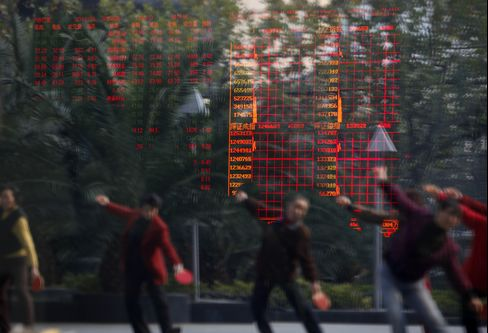 China's Stocks Rise to Two-Week High as Bank Loans Top Forecasts