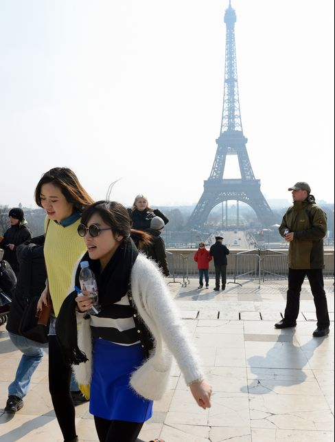 Chinese Tourists in Paris