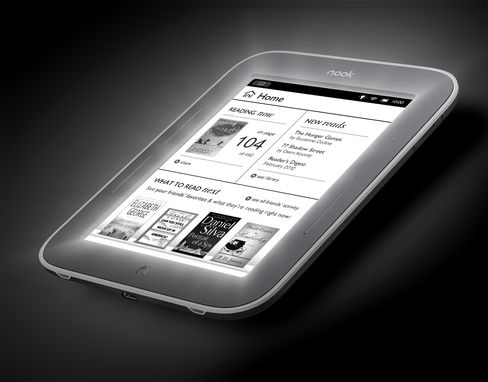 Barnes & Noble Unveils Glowing Nook E-Reader to Challenge Amazon