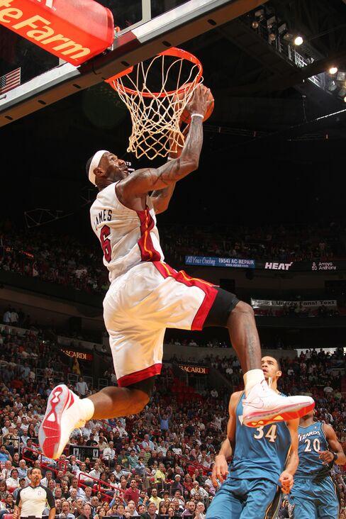 LeBron James Leads Miami Heat to Win