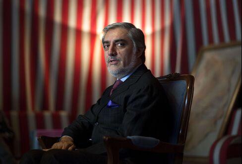 Afghan Presidential Candidate Abdullah Abdullah