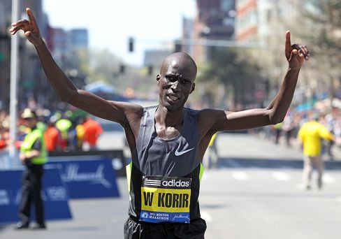 Boston Marathon Winner Wesley Korir of Kenya