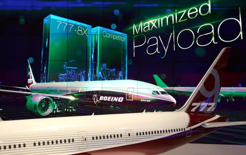A Model of Boeing's 777X Aircraft