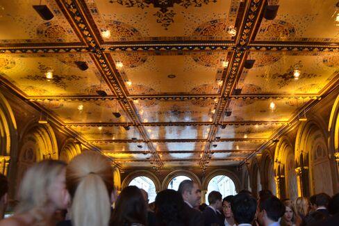 The restored Bethesda Terrace shows off its splendor during the tasting. Photographer: Amanda Gordon/Bloomberg