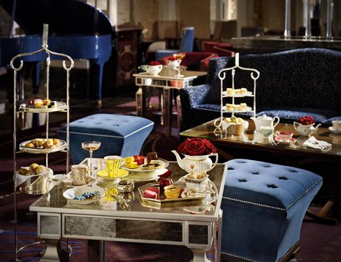 Afternoon tea at the Langham Hotel