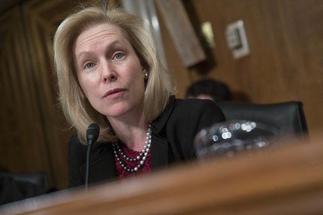 Senator Kirsten Gillibrand's bill on sexual assult in the military ran into the wall. Photographer: Andrew Harrer/Bloomberg