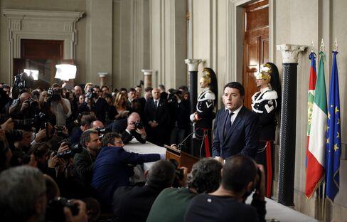 Italy's Prime Minister Designate Matteo Renzi