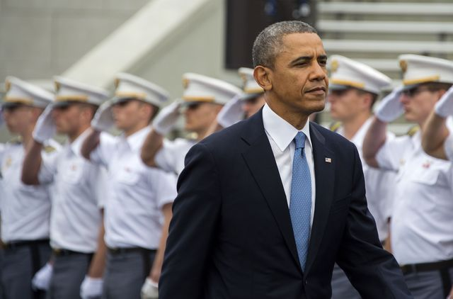Commander in chief, not analyst in chief.Photographer: Jim Watson/AFP/Getty Images