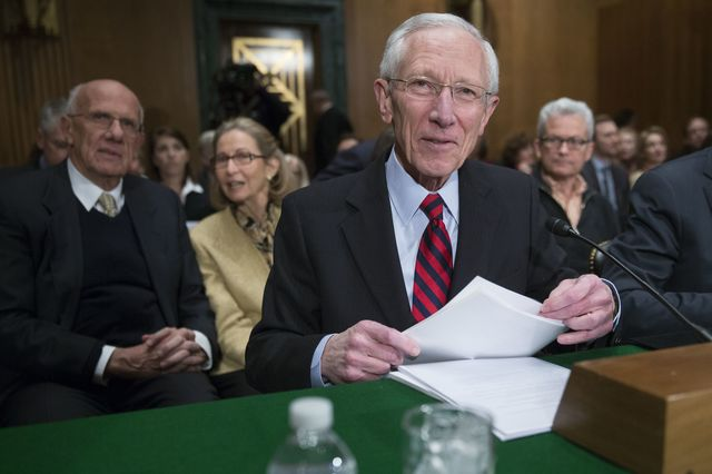 Stanley Fischer was confirmed tothe Fed Board. A vote on his nomination to be vice chairmanof the centralbank was postponed.Photographer: Andrew Harrer/Bloomberg