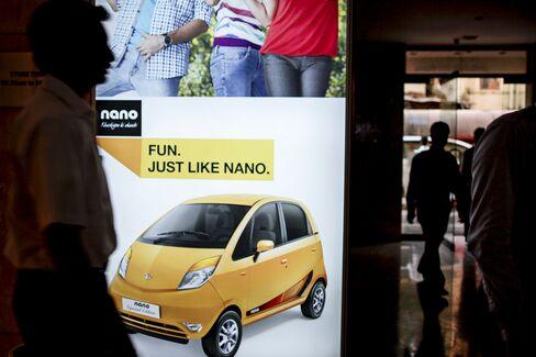 Tata Motors advertisement for the Nano